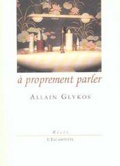 A Proprement Parler - Intérieur - Format classique