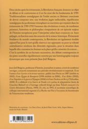 Écrire la revolution francaise ; deux siècle d'historiographie - 4ème de couverture - Format classique