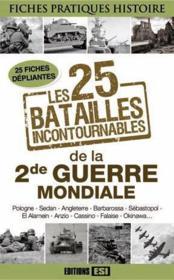 Les 25 batailles incontournables de la 2de Guerre mondiale - Couverture - Format classique