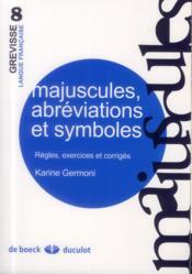 Majuscules, abréviations et symboles - Couverture - Format classique