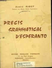 Precis Grammatical D'Esperanto - Couverture - Format classique