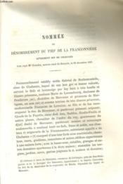 NOMMEE ou DENOMBREMENT DU FIEF DE LA FRANCONNIERE AUTREMENT DIT DE CHABANES ACTE RECU Me CHAUDON, NOTAIRE DE BRIOUDE, LE 29 NOVEMBRE 1607 - Couverture - Format classique