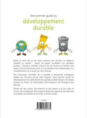 Mon premier guide du développement durable ; dès 8 ans - 4ème de couverture - Format classique
