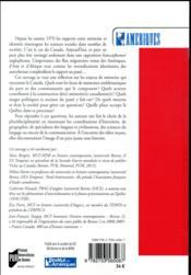 Mémoires canadiennes - 4ème de couverture - Format classique
