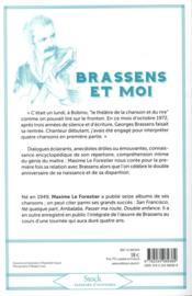 Brassens et moi - 4ème de couverture - Format classique