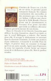 Le Chevalier De La Charrette - 4ème de couverture - Format classique
