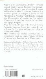 La conspiration Trevayne - 4ème de couverture - Format classique