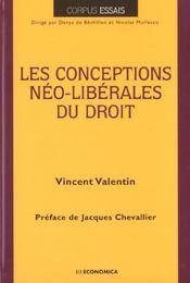 Les Conceptions Neo-Liberales Du Droit - Intérieur - Format classique