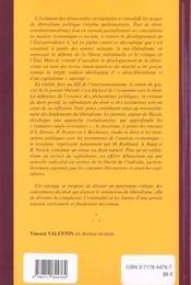 Les Conceptions Neo-Liberales Du Droit - 4ème de couverture - Format classique