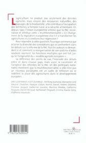 La politique agricole commune ; anatomie d'une transformation - 4ème de couverture - Format classique