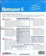1, Nettoyeur 6 - 4ème de couverture - Format classique