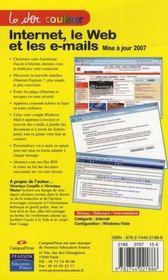 Internet, le web et les e-mails - 4ème de couverture - Format classique