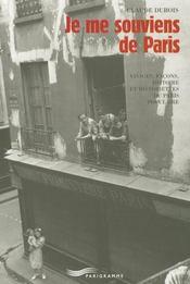 Je me souviens de Paris - Intérieur - Format classique