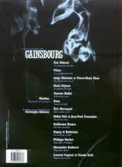 Les chansons de Gainsbourg ; volutes 1 ; polars polaires - 4ème de couverture - Format classique