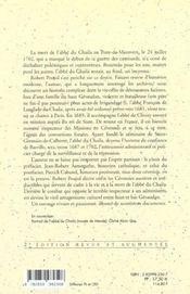 Abbe Du Chaila, 1648-1702 Du Siam Aux Cevennes - 4ème de couverture - Format classique