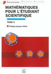 Mathematiques Pour L Etudiant Scientifique Tome Ii - Intérieur - Format classique
