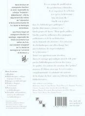 Litterature(S) En Bibliotheques. 6 - 4ème de couverture - Format classique