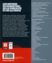 Les métiers du marketing, de la vente et de la publicité - 4ème de couverture - Format classique