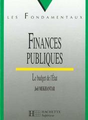 Finances Publiques - Intérieur - Format classique