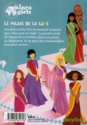 Kinra girls T.13 ; le palais de la lune - 4ème de couverture - Format classique