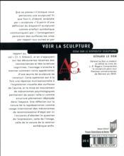 Voir la sculpture ; essai sur le dispositif sculptural - 4ème de couverture - Format classique