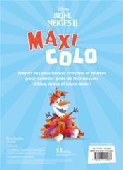 Maxi colos ; la Reine des Neiges 2 - 4ème de couverture - Format classique