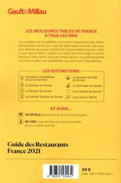 Guide des restaurants France (édition 2021) - 4ème de couverture - Format classique