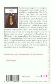 Carmen - 4ème de couverture - Format classique