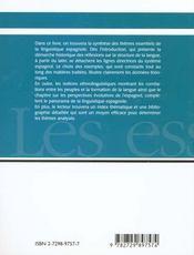 Linguistique Espagnole - 4ème de couverture - Format classique
