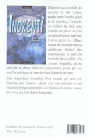 Inokenti - 4ème de couverture - Format classique