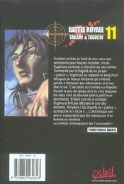 Battle royale t.11 - 4ème de couverture - Format classique