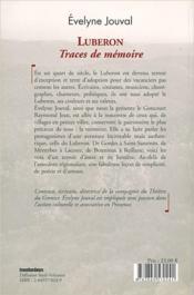 Luberon, traces de mémoire - 4ème de couverture - Format classique