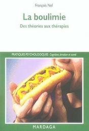 La boulimie ; des théories aux thérapies - Intérieur - Format classique