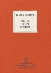 Notes d'un peintre - Couverture - Format classique
