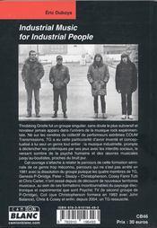 Industrial music for industrial people - 4ème de couverture - Format classique