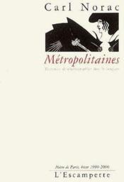 Métropolitaines - Couverture - Format classique