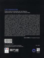 Ressources - 4ème de couverture - Format classique