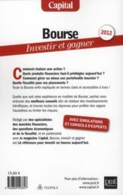 Bourse ; investir et gagner (édition 2012) - 4ème de couverture - Format classique
