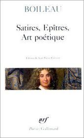 Satires / Epitres / Art Poetique - Intérieur - Format classique
