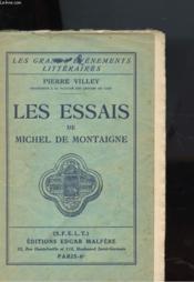 Les Essais De Michel De Montaigne - Couverture - Format classique