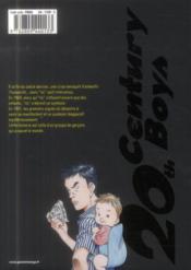 20th century boys - deluxe T.1 - 4ème de couverture - Format classique