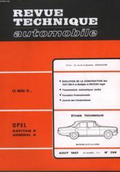 Revue Technique Automobile - N°256 - Couverture - Format classique