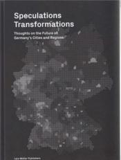Speculations transformations - Couverture - Format classique
