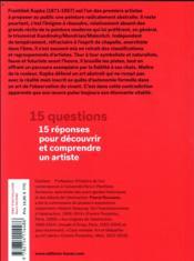 Frantisek Kupka en 15 questions - 4ème de couverture - Format classique