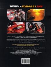 Toute la formule 1 (édition 2008) - 4ème de couverture - Format classique