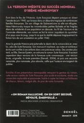 Suite française ; tempête en juin, le manuscrit retrouvé - 4ème de couverture - Format classique