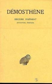 Discours d'apparat - Couverture - Format classique