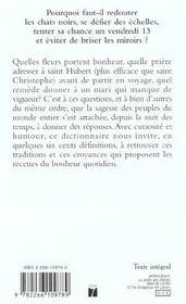 Le Livre Des Superstitions - 4ème de couverture - Format classique