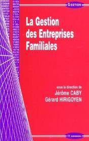 La gestion des entreprises familiales - Intérieur - Format classique