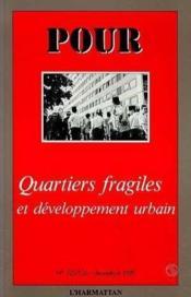 Quartiers Fragiles Et Developpement Urbain - Couverture - Format classique